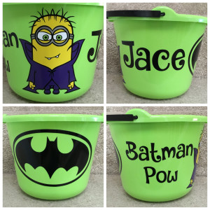 Jace's Halloween Bucket I made him!